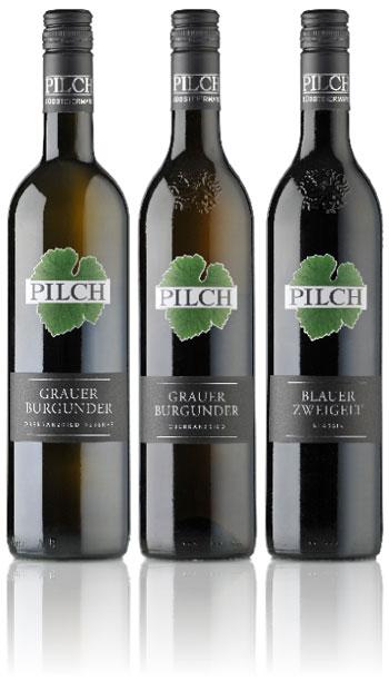 Weinflaschen-Reihe